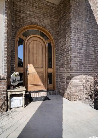 Beautiful wood front door