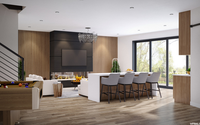 Ski/Mud room plus gaming and TV room - conceptual only