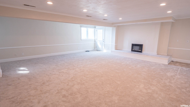 Basement Family Room with Walkout Entrance