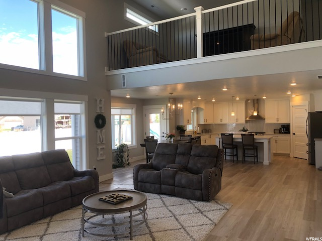 Open Design even into the upstairs family room loft