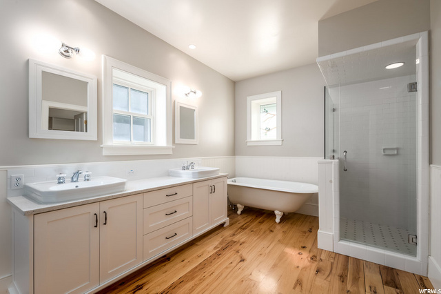 Master Bath with Soaking Tub and Shower