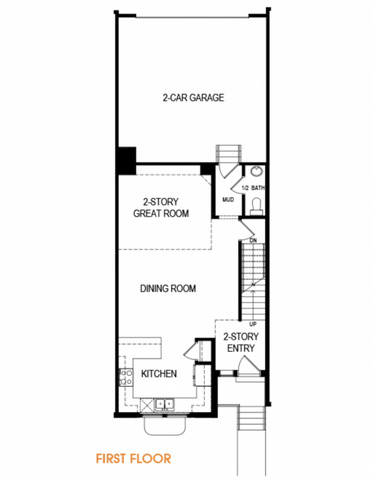 EDGEhomes reserves the right to make changes at any time. Floor plans, dimensions, amenities, and elevations are deemed reliable but may be modified. Rendering does not depict exact finishes or design. Please verify inclusions with an EDGEhomes agent.EDGE