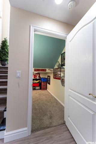 Basement Under-stairs Room w/Cut-out window - perfect playroom for young kids