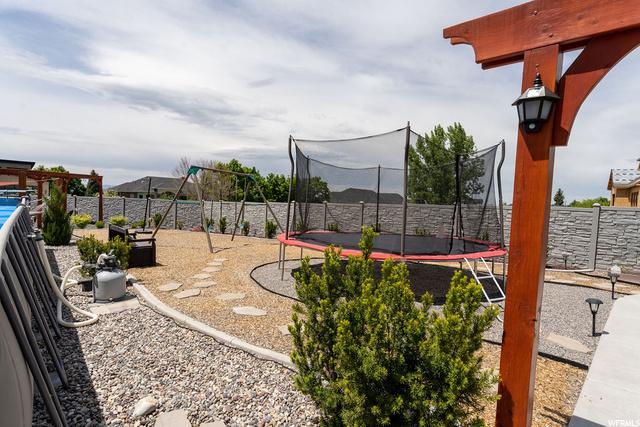 Backyard playground area