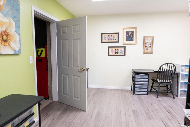 Basement Storage/Craft Room door opened to Cold Storage in picture