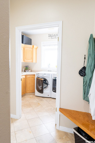 Looking into Laundry Room from Mud Room
