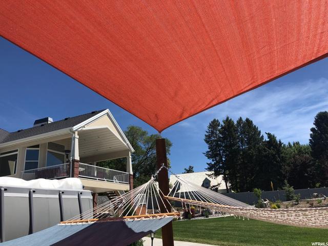 Backyard hammock area