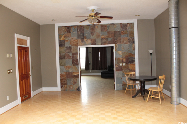 Family room, dining, and bedroom.