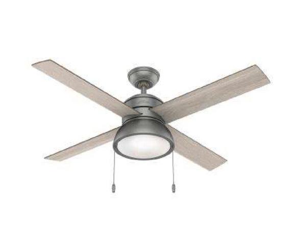 Ceiling Fan #3 - #51031 Matte SilverInstalled in Master Bedroom