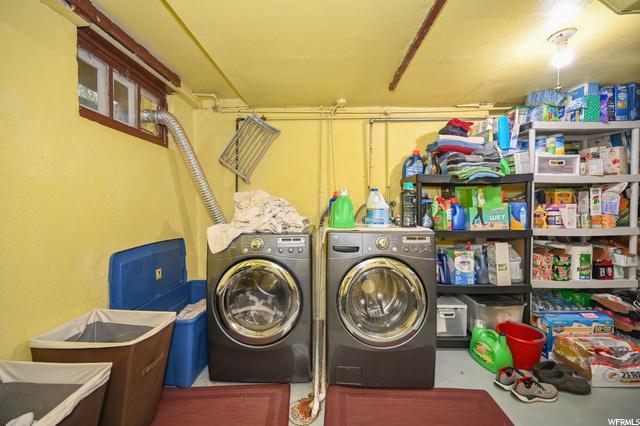 Basement Laundry with Chute